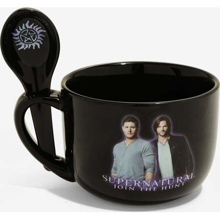 Supernatural Galaxy Soup Mug & Spoon thumb