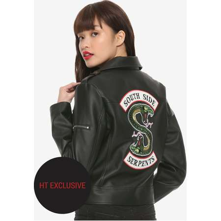 Riverdale Southside Serpents Faux Leather Girls Jacket Hot Topic Exclusive thumb