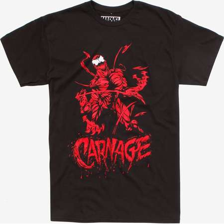 Marvel Venom Carnage Red & Black T-Shirt thumb