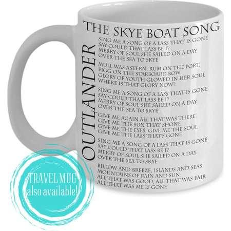 Outlander Coffee Mug Skye Boat Song JAMMF Jamie Fraser, Ceramic Mug or Travel Mug thumb