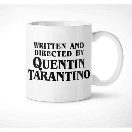Quentin Tarantino - Exclusive Mug // written and directed by, reservoir, pulp fiction, hateful, inglorious, jackie, kill bill, cup, gifts thumb