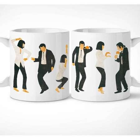 Pulp Fiction > Jack Rabbit Dance - Exclusive Mug // quentin tarantino, mia wallace, vincent vega, thurman, travolta, movie, gift, tasse, 90s thumb