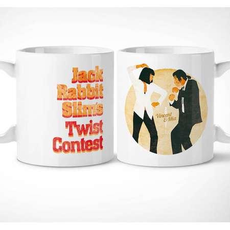 Pulp Fiction > Jack Rabbit - Exclusive Mug // cup, tarantino, slims, dance, vincent vega, mia wallace, cinema, thurman, gifts, movie, tasse thumb