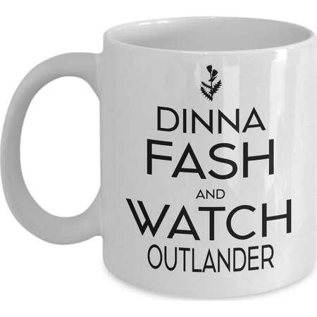Dinna Fash Watch Outlander Coffee Cup Claire Fraser Outlander Mug Outlander Fan Gift Outlander Obsession Jamie Fraser Sassenach JAMMF thumb