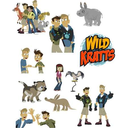 f52f2e9efbb2 Wild Kratts Printouts INSTANT DOWNLOAD Clipart Imags Cutouts Printable  Centerpieces Decorations Animals Chris Martin Jungle Birthday