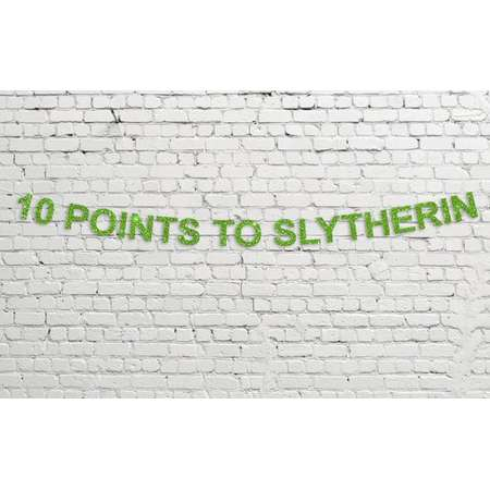 10 Points To Slytherin Banner // Glitter Party Decor // Harry Potter // Hogwarts // Sorting Hat thumb
