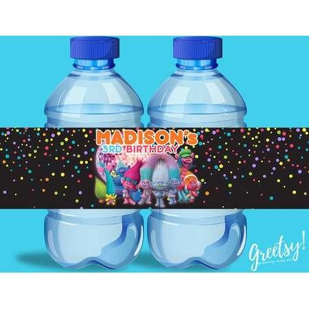 Trolls Water Bottle Labels, Trolls Birthday Labels, Trolls Party Labels, Trolls Printable Supplies, Trolls Party Supplies, Trolls Labels thumb