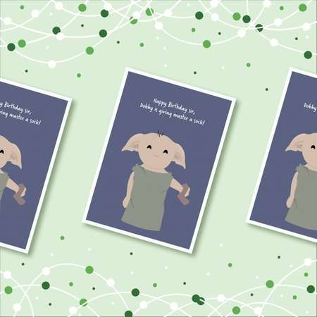 Dobby Birthday Card - Harry Potter thumb