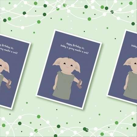 Dobby Birthday Card - Harry Potter thumb