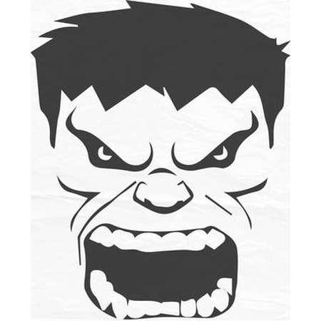 The Incredible Hulk Face, Hulk face svg, Hulk face, Huk - Vector Design - SVG / DXF / EPS thumb