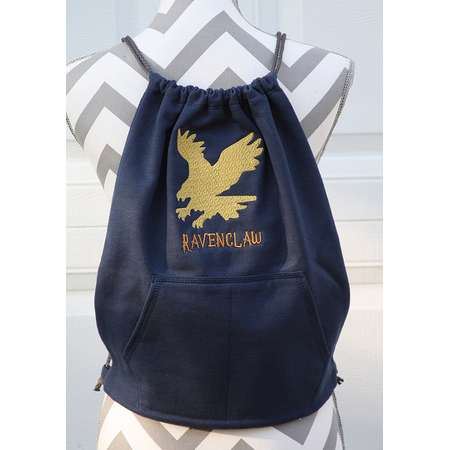 Harry Potter Inspired RAVENCLAW Back Pack - Cinch Sack - Gryffindor - HufflePuff - Slytherin thumb