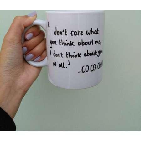 Coco Chanel Quote Mug thumb