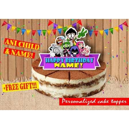 Digital Teen Titans Go birthday cake toppers| Teen Titans Go birthday party | printable Teen Titans Go|  Teen Titans Go decor thumb
