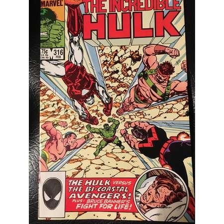 "Marvel The Incredible Hulk ""Battleground"" #316 Comic Book thumb"