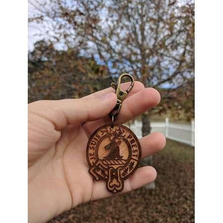 Keychain - Outlander Je Suis Prest {Fraser Clan Motto, Jamie Fraser,Keyring,Zipper Pull, Zipper Charm, Geek Gift, Nerd Gift, Gifts under 10} thumb