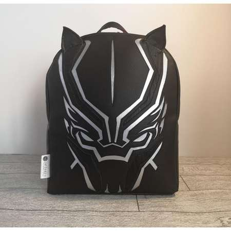 BLACK PANTHER themed backpack, a great back to school bag or unique gift, featuring African print thumb