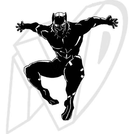 Black Panther Jumping Decal, Black Panther Decal, Wakanda Forever, Black Panther Marvel Decal, King T'Challa, Marvel decal thumb