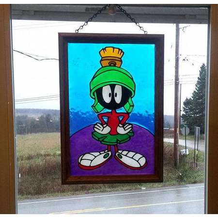 Painted Suncatchers, Shop 170 Designs of Window Art, Faux Stained Glass, Marvin Martian, Bugs Bunny, Cartoon, Alien, Mars, Space, Planet thumb