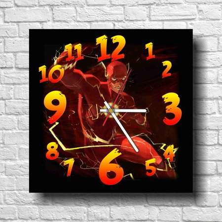The Flash - 11.4'' Handmade Wall Clock - Get unique décor for home or office – Best gift ideas for kids, friends, parents thumb