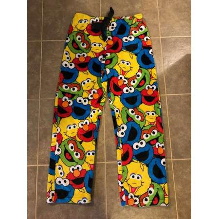 Sesame Street Characters Warm Pajamas Rave Pants Medium thumb
