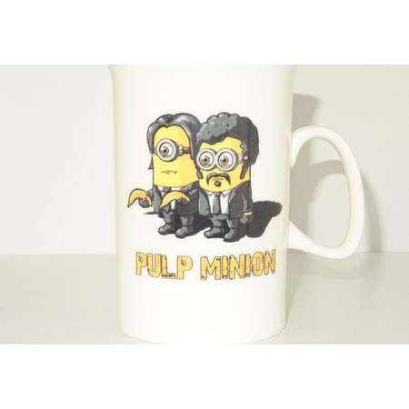 pulp minion Mug, Coffee Cup Funny Mug tea Birthday Gift for Him Unique, pulp fiction thumb