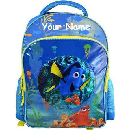 Personalized Monogrammed Disney Finding Dory with Finding Nemo Confetti Bubble Ocean Back to School Backpack Book Bag with Name Embroidery thumb