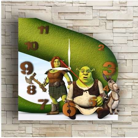 Shrek 11.8'' Handmade Wall Clock – Best gift ideas for kids, friends, parents and your soul mates thumb