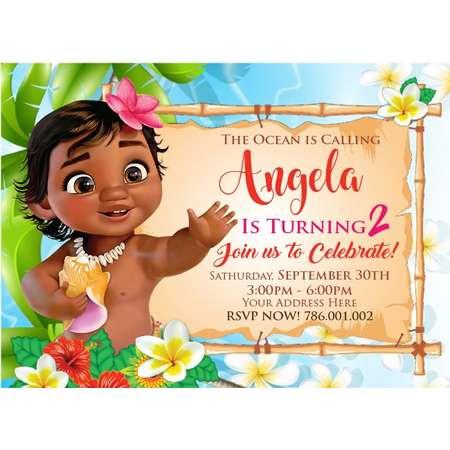 Custom Invitation Little Moana thumb