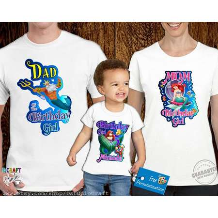 The Little Mermaid Birthday Shirt Ariel Custom Personalized