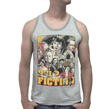 Pulp Fiction Quentin Tarantino Uma Thurman Men Tank Top Vest Singlet Tee Shirt T-Shirts funny Gift birthday gift Printed thumb