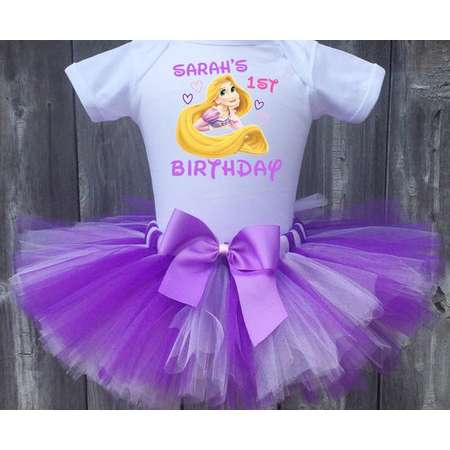 Rapunzel Birthday Outfit First Custom Tangled Tutu Set Personalized Shirt