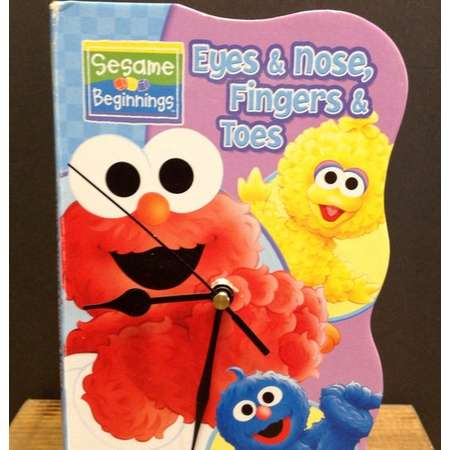 Sesame Street Eyes Nose Fingers and Toes Book  Clock thumb