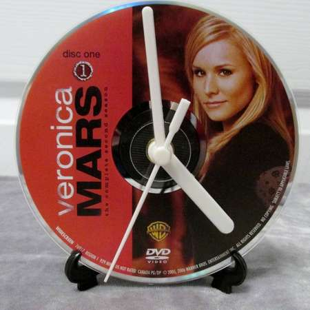 Veronica Mars DVD Clock Upcycled TV Show - Veronica (Season 2, Disc 1) thumb