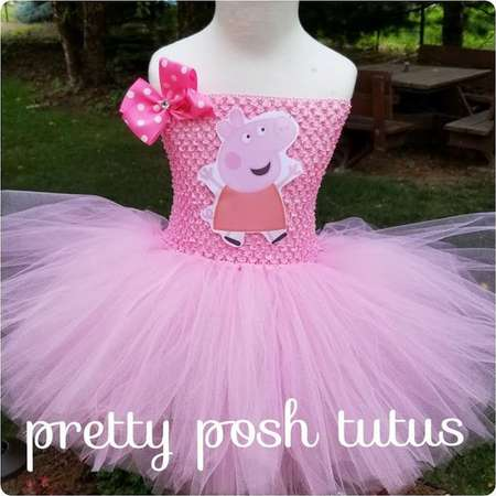 ce714e3f5b6e Peppa Pig costume, Peppa Pig tutu dress!! Halloween costume, tutu costume,  birthday tutu dress, Peppa Pig tutu dress