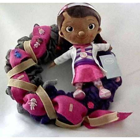 Disney Themed Wreaths Doc McStuffins with Doc McStuffins and Friends buttons, Disney ,Disney Wreath, Doc McStuffins thumb