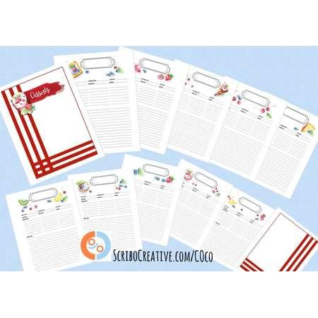 Gift idea for the chef of the family: COco Blank Desserts Recipe Book by Maria Castro of ScriboCreative.com thumb