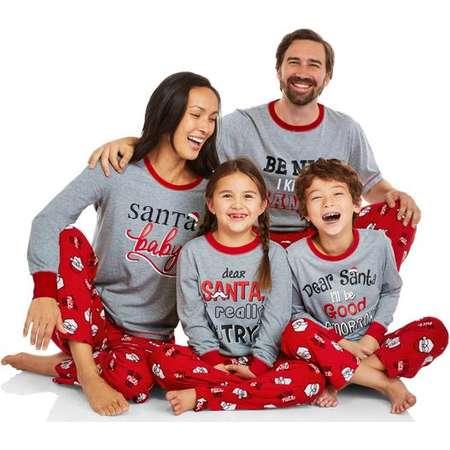 Christmas family pajamas   Family matching pajamas   Santa pajamas for the whole family thumb