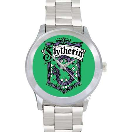 Slytherin House Mens Metal Watch Bracelet Watch Harry Potter Wizard School of Witchcraft and Wizardry Gift for Fans thumb
