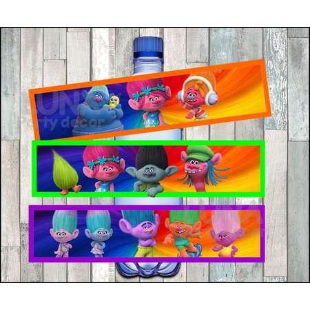 Trolls Water Bottle Label instant download, Printable Trolls party Water Bottle Label, Trolls Water Bottle thumb