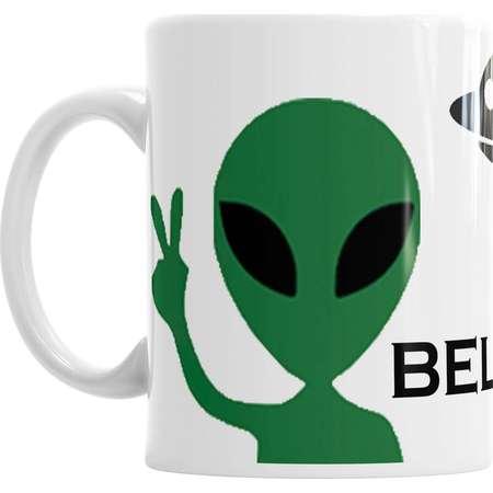 Alien Mug, I Believe Mug, UFO Mug, Space Mug, Universe Mug, Tea Mug, Novelty Mug, Office Mug, Gift Idea 83 thumb