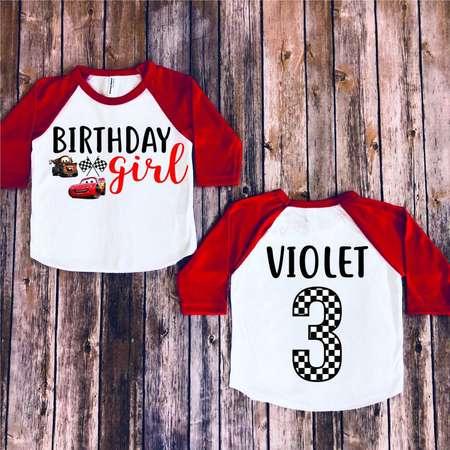 Disney Cars Birthday Girl Customize Mater Shirt Personalize Lightning Mcqueen