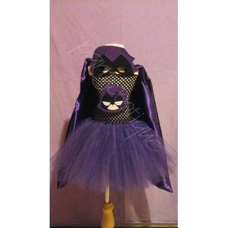teen titans go raven inspired tutu dress halloween costume thumb