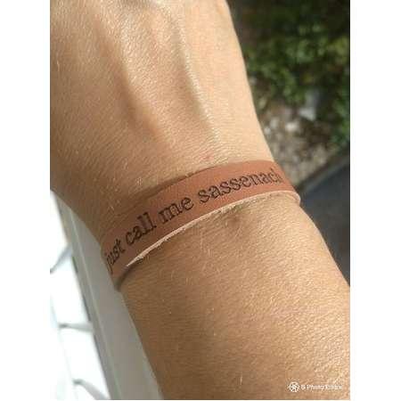 "Outlander leather bracelet ""just call me sassenach"" thumb"