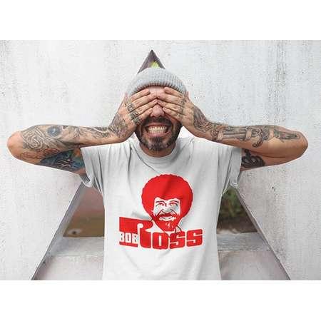 Bob Ross v2 Funny Custom Ink and Shirt, T-Shirt, TShirt, Tanks, V-Necks, Ladies Cut and Unisex Tops and Apparel thumb