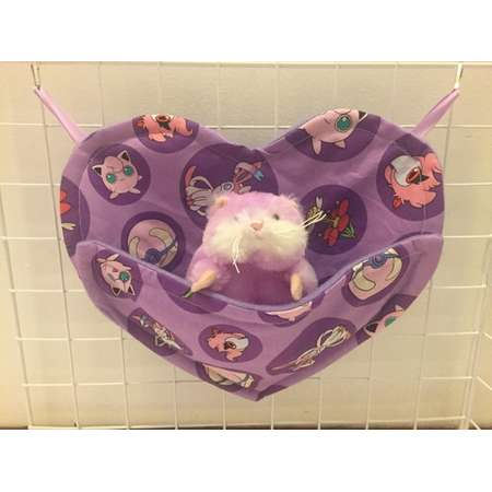 Heart-Shaped Sleep pouch for Sugar Gliders and Opossums-Purple Pokemon thumb