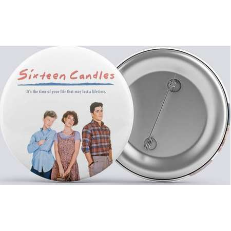 Sixteen Candles 80's Pin Button, Key Chain 1 inch - 3 inch  (25mm - 76 mm) Zipper Pull, Magnet or Hair Tie thumb