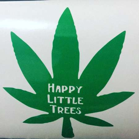 Happy Little Trees Decal | Bob Ross Decal | Pot Decal | Weed Decal | Bob Ross Sticker | Leaf Decal thumb