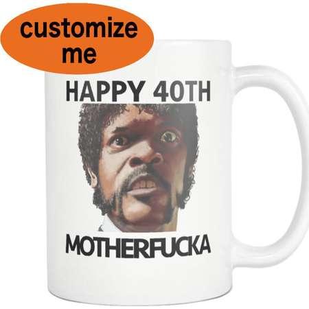 Pulp Fiction 40th Birthday Mug Tarantino 50th Mug 47th Birthday Samuel L Jackson Movie Quote Cup thumb