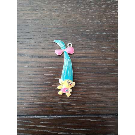 Trolls Smidge Pendant for Chunky Bubblegum Necklaces / Key Chains / Backpack Bling / Hair Bows thumb