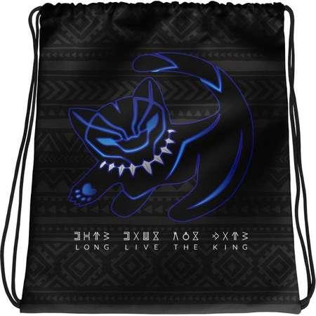 Black Panther Lion King Mashup Disney Drawstring Bag, Disney Vacation Bag thumb